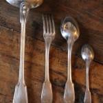 menagere filet metal argenté christofle chinon 12 fourchette cuillères (4)