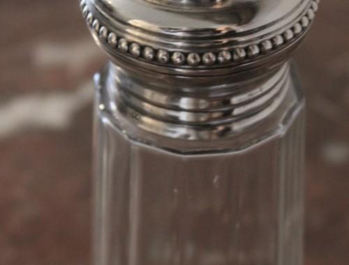 saupourdroir sucrier argent cristal louis XVI  (2)