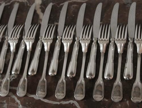 couverts enfant peties fourchettes petits couteaux dessert entremet fromage modele filet chinon metal argenté (1)