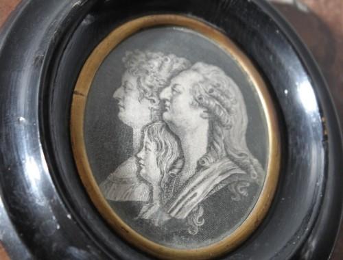 gravure XVIII siècle louis XVI marie antoinette dauphin louis XVII famille royale  (1)