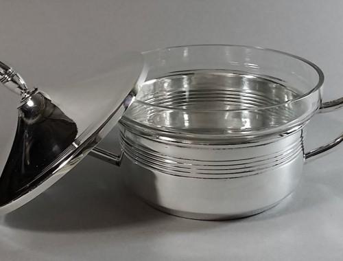 Sucrier en métal argenté et cristal.Art-Déco (1) (FILEminimizer)