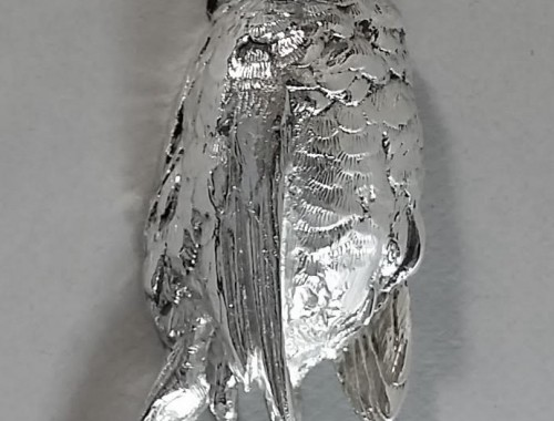 Presse-papier en bronze argenté
