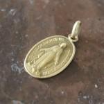 medaille miraculeuse or 18 k baptème naissance sainte vierge marie  (1)