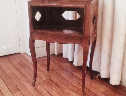 petit meuble volant a en cas table de chevet de salon palissandre epoque Louis XV XVIIIe (12)