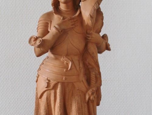 statue Jeanne d'arc Jehanne terre cuite pierson vaucouleur armure (1)