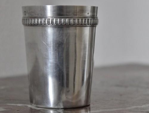 timbale en argent baptème naissance godron vermeil poincon minerve (2)