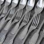 couvert  ménagere fourchette cuilleres argent massif poincon minerve modele filet chinon orfevre sanoner (4)