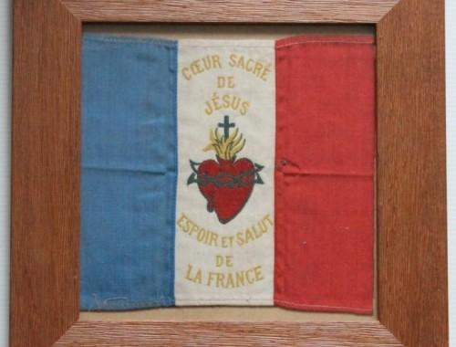 petit-drapeau-france-francais-fanion-espoir-et-salut-de-la-france-coeur-sacre-de-jesus-1ere-premiere-guerre-mondiale-14-18-2