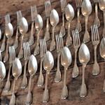 18 couverts entremets cuillères fourchettes dessert argent massif modele filet poincon minerve chinon (1)