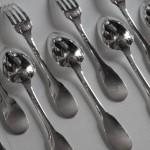 couverts fourchettes cuillères uniplat argent massif tetard cluny vieux paris non chiffré (3)