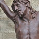 grand Christ en croix crucifix corpus fonte sculpture extérieure XVIIIe XIXe siècle (4)