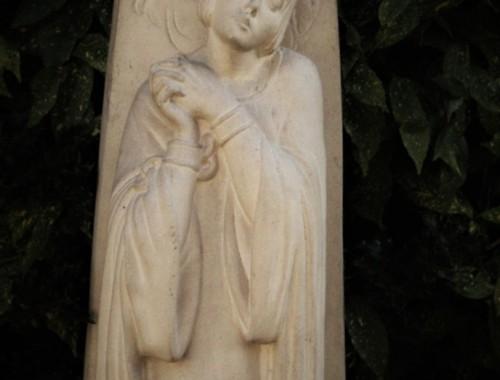 sainte jeanne d'arc au bucher real del sarte grande statue sculpture en pierre reconstituée art deco (1)