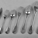 ménagère en argent massif modèle uniplat cluny vieux paris couteaux couverts entremet poisson complète (8)