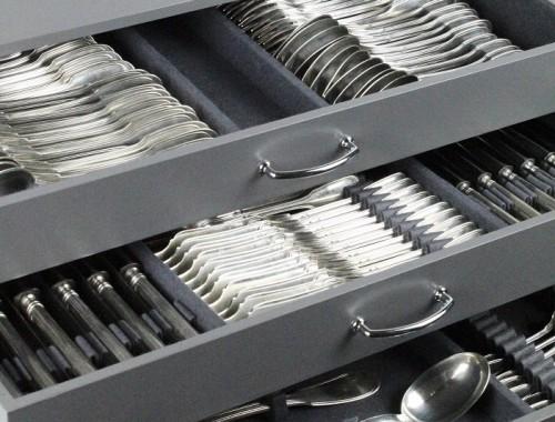 menagere en argent massif modèle aux filets chinon couteaux entremet couverts poisson complète 12 coffret (4)